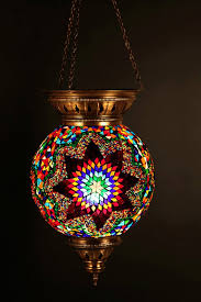Lantern Ceiling Light Fixtures Eclectic Decor Moroccan Mediterranean Lantern Hanging Stained