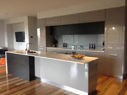 grey black kitchen with spotted gum timber flooring our new