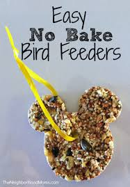 we made easy no bake bird feeders using coconut oil for all of our