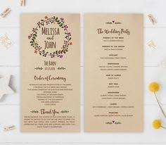 Modern Wedding Program 2 Modern Wedding Program And Templates Discover More Ideas About