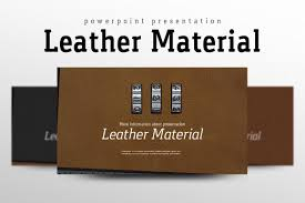 leather powerpoint template by goodpello design bundles