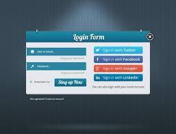 Social Tables Login Form Templates