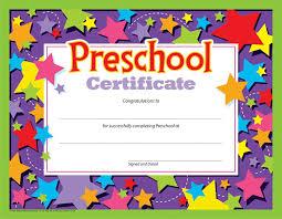 preschool certificates preschool certificate 30 pk t 17006