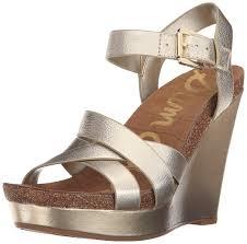 amazon com sam edelman women u0027s nelson wedge sandal platforms
