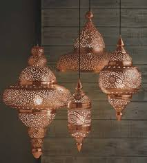 bright copper moroccan hanging lamp candles u0026 lights home