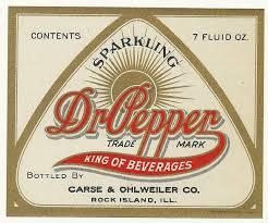 vintage original unused 1920 u0027s dr pepper soda bottle