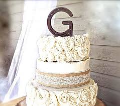 g cake topper letter g wedding cake topper from real horseshoes western