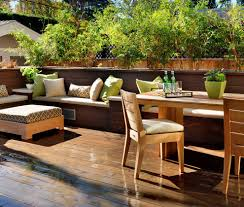 modern built in bench deck contemporary with outdoor dining