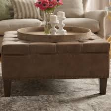 Square Leather Storage Ottoman Coffee Table by Coffee Table Fabulous Large Round Tufted Ottoman Round Ottoman