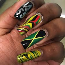 British Flag Nails Jamaica Lady Lacquer