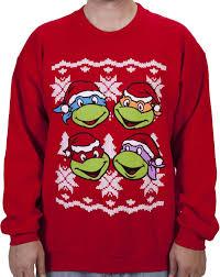 faces turtle faux sweater tmnt