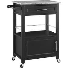 linon kitchen island linon mitchell kitchen island cart with granite top black