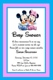 mickey mouse baby shower invitations minnie mouse baby shower invitations party city paperinvite
