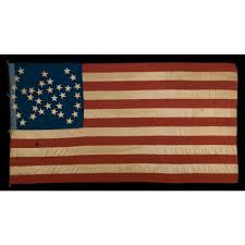 Flag Of Massachusetts Jeff Bridgman Antique Flags And Painted Furniture 34 Star