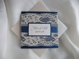 Navy Blue Wedding Invitations Wedding Invitation Lace Wedding Invitation Navy Blue Wedding