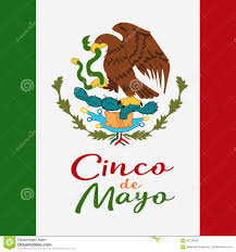 cinco de mayo poster design symbol of the mexican flag eagle