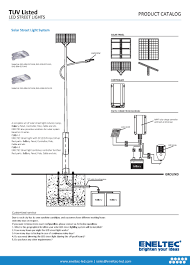 Solar Street Light Technical Specifications by Tuv Listed Led Street Lights Eneltec Group