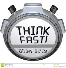 think fast timer stopwatch quiz answer contest royalty free stock