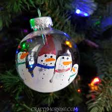 handprint snowman ornament keepsake crafty morning