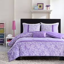 awesome bed frames bedroom pretty floral pattern purple bed sets plus black wooden