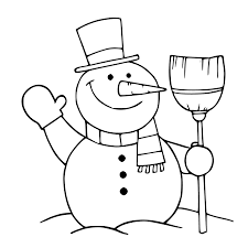 simple snowman coloring page getcoloringpages com