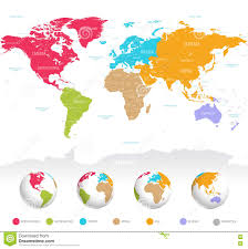 Algeria World Map Colorful Vector World Map Stock Vector Image 71510322
