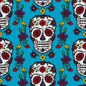 skull wrapping paper sugar skull tattoo wallpaper andibird spoonflower