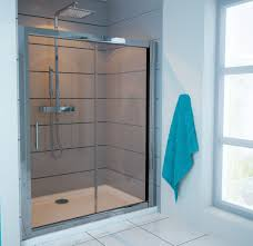 sliding shower doors as great choice to save bath space traba homes