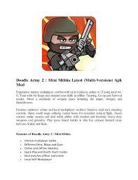 doodle army apk doodle army 2 mini militia multi versions apk mod