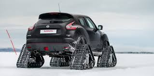 jeep snow tracks nissan juke nismo rsnow fitted with tracks to tackle lapland