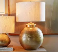 Hammered Metal Table Lamp Buffet Nori Hammered Table Lamp Base Brass Pottery Barn