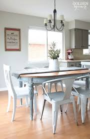 Painted Dining Room Sets How To Update An Old Dining Room Set Painted Dining Table Finally