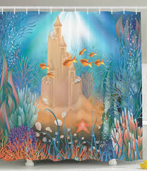 Shower Curtains With Fish Theme Amazon Com Kids Shower Curtain Nursery Decor By Ambesonne Fairy