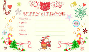 holiday gift certificate templates template free outstanding