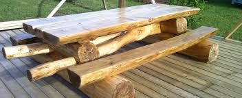 tables made from logs alberta log furniture rustic log beds benches chairs gazebos tables