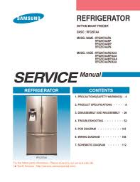 samsung refrigerator service manual rfg297aa applianceassistant