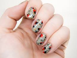 mid century modern nail art chalkboard nails nail art blog