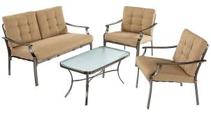 outdoor living room sets pensacola tan 4 pc outdoor living room set living room sets beige