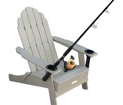 Adarondak Chair Shade Anglers Folding Adirondack Chair W Cup U0026 Rod Holders