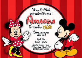 mickey and minnie birthday invitations u2013 frenchkitten net