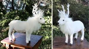 white reindeer stuffed animal