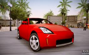 red nissan 350z nissan 350z sa style for gta san andreas