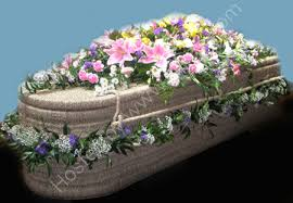 wicker casket simonis bournemouth florist ltd decorated wicker casket mixed