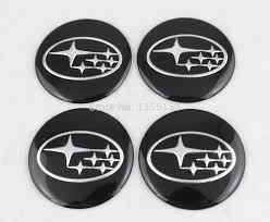 black subaru logo 4pcs 60mm wheel centre center caps central hub 030 universal blank