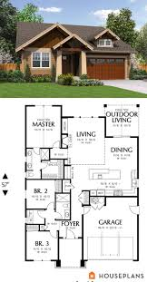 Side Garage Floor Plans 25 Best Bungalow House Plans Ideas On Pinterest Bungalow Floor