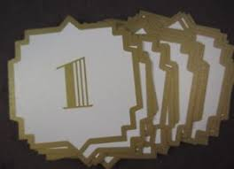 Wedding Table Signs Table Number Cards 4