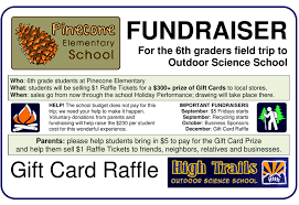 gift card fundraiser fundraising outdoor education in california