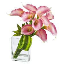 silk calla lilies 20 calla succulent bouquet artificial arrangement