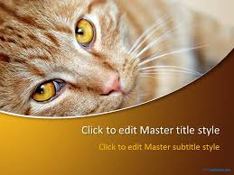 free red cat ppt template