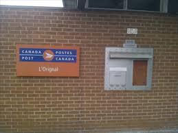 bureau de poste pr騅ost bureau de poste de l orignal l orignal post office k0b 1k0